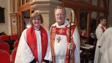 Bishop John with the Revd. Gillian